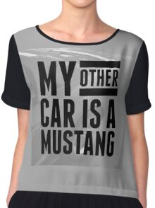 MY OTHER CAR IS A MUSTANG style I Chiffon Top