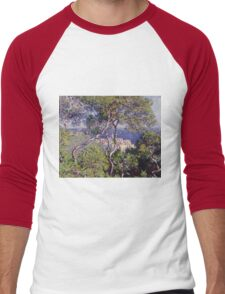 Claude Monet - Bordighera 1884  Impressionism . Famous paintings Men's Baseball ¾ T-Shirt