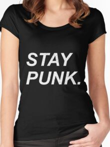 Stay Punk. Women's Fitted Scoop T-Shirt