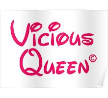 Vicious Queen Pink Poster
