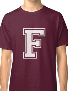 Letter - F (white) Classic T-Shirt