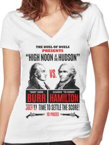 Burr vs Hamilton History Women's Fitted V-Neck T-Shirt