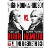 Burr vs Hamilton History iPad Case/Skin