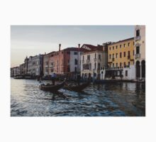 Venice, Italy - Glossy Water Gondola Pair on the Grand Canal Kids Tee