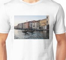Venice, Italy - Glossy Water Gondola Pair on the Grand Canal Unisex T-Shirt