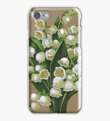 Lilies of the valley - acrylic painting iPhone Case/Skin