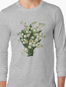 Lilies of the valley - acrylic painting Long Sleeve T-Shirt