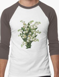 Lilies of the valley - acrylic painting Men's Baseball ¾ T-Shirt