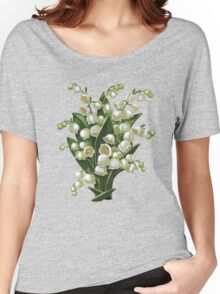 Lilies of the valley - acrylic painting Women's Relaxed Fit T-Shirt