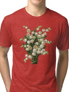 Lilies of the valley - acrylic painting Tri-blend T-Shirt