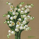 Lilies of the valley - acrylic painting by Vera Ema Tataro