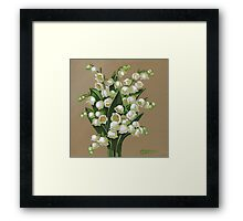 Lilies of the valley - acrylic painting Framed Print