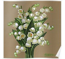 Lilies of the valley - acrylic painting Poster