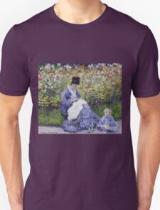 Claude Monet - Camille Monet And A Child In The Artist S Garden In Argenteuil 1875 Impressionism Unisex T-Shirt