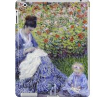 Claude Monet - Camille Monet And A Child In The Artist S Garden In Argenteuil 1875 Impressionism iPad Case/Skin