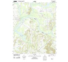 USGS TOPO Map Alabama AL Triana 20110921 TM Photographic Print