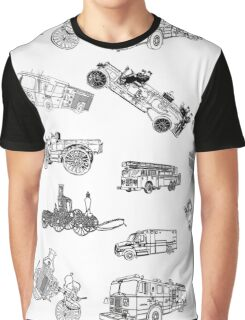 Fire Trucks - Old and New Graphic T-Shirt