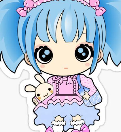 Cute little anime girl Sticker