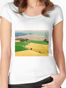 Tuscany summer Women's Fitted Scoop T-Shirt