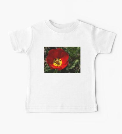 Bright and Red Sunny Tulip Baby Tee