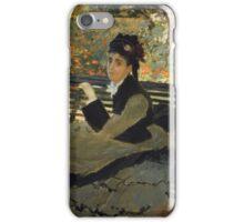 Claude Monet - Camille Monet On A Garden Bench. Impressionism,Vintage Gift iPhone Case/Skin