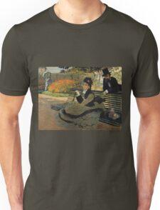Claude Monet - Camille Monet On A Garden Bench. Impressionism,Vintage Gift Unisex T-Shirt