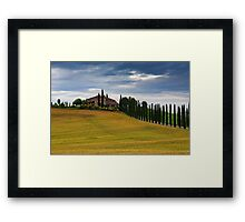 Val d'Orcia summer Framed Print