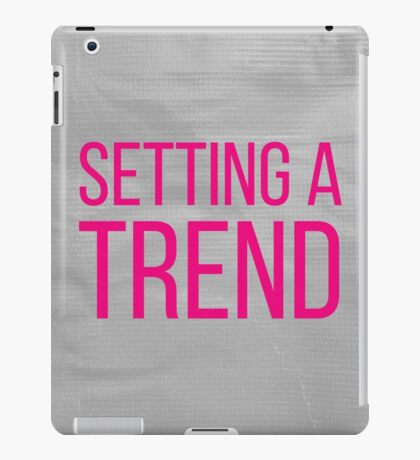 SETTING A TREND pink iPad Case/Skin