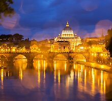 Vatican at dusk by MIRCEA COSTINA