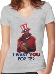 I want you for TF2! - Team Fortress 2 Women's Fitted V-Neck T-Shirt