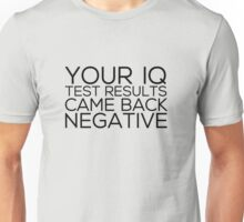 IQ Test Results Unisex T-Shirt