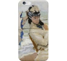 Claude Monet - Camille On The Beach In Trouville. Impressionism.Unique Gift iPhone Case/Skin