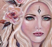 Philantha flower fairy by Renee Lavoie Sticker