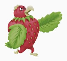 Strawberry Chicken One Piece - Short Sleeve