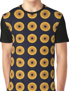 Sunflower Fractal Graphic T-Shirt