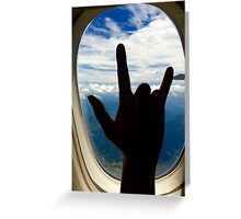 Rocking Out on a Plane Greeting Card