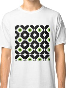 Retro Flower - Lime Green Classic T-Shirt
