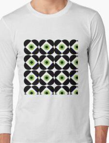 Retro Flower - Lime Green Long Sleeve T-Shirt