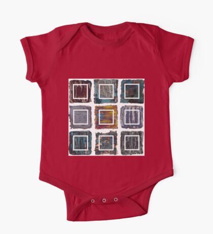 Extractions assembed - oil paintings patchwork One Piece - Short Sleeve