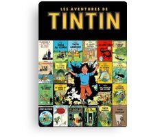 Tintin - Album Walk Canvas Print