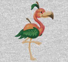 Peach Flamingo Kids Tee