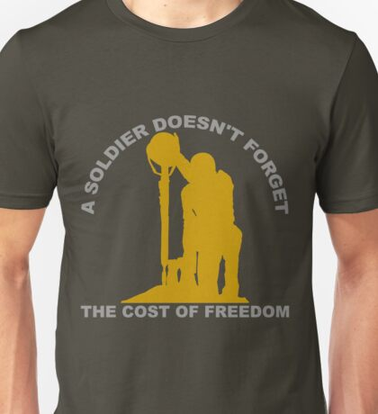 A Soldier Doesn't Forget Unisex T-Shirt