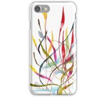 Unknown Flower 4 - Small Abstract Landscape, watercolor, ink & pencil on paper  iPhone Case/Skin
