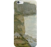 Claude Monet - Cape Antifer, Etretat .Impressionism.Motivational Poster iPhone Case/Skin