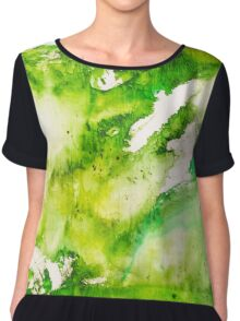 Seeing colour - Green Chiffon Top