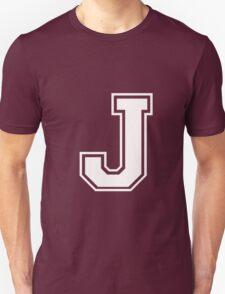 Letter - J (white) Unisex T-Shirt