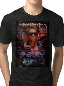 Vintage Japanese terminator movie poster Tri-blend T-Shirt