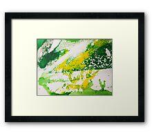 Seeing colour - Sharp green Framed Print
