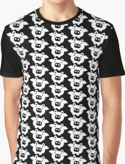 Flying Pig White Graphic T-Shirt