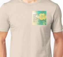Serenity Prayer Peony Yellow Turquoise Unisex T-Shirt
